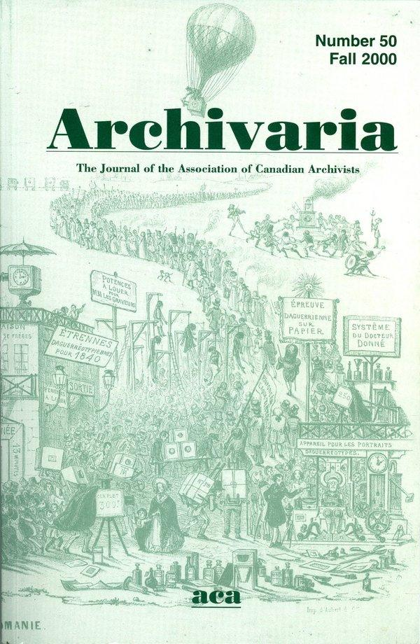 Archivaria 50 front cover