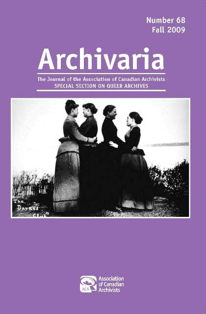 Archivaria 68 cover