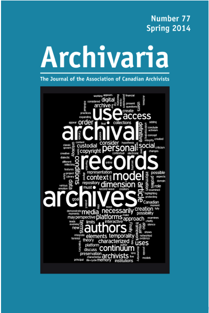 Archivaria 77 cover