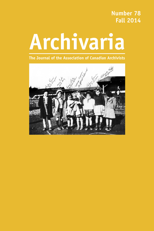Archivaria 78 cover