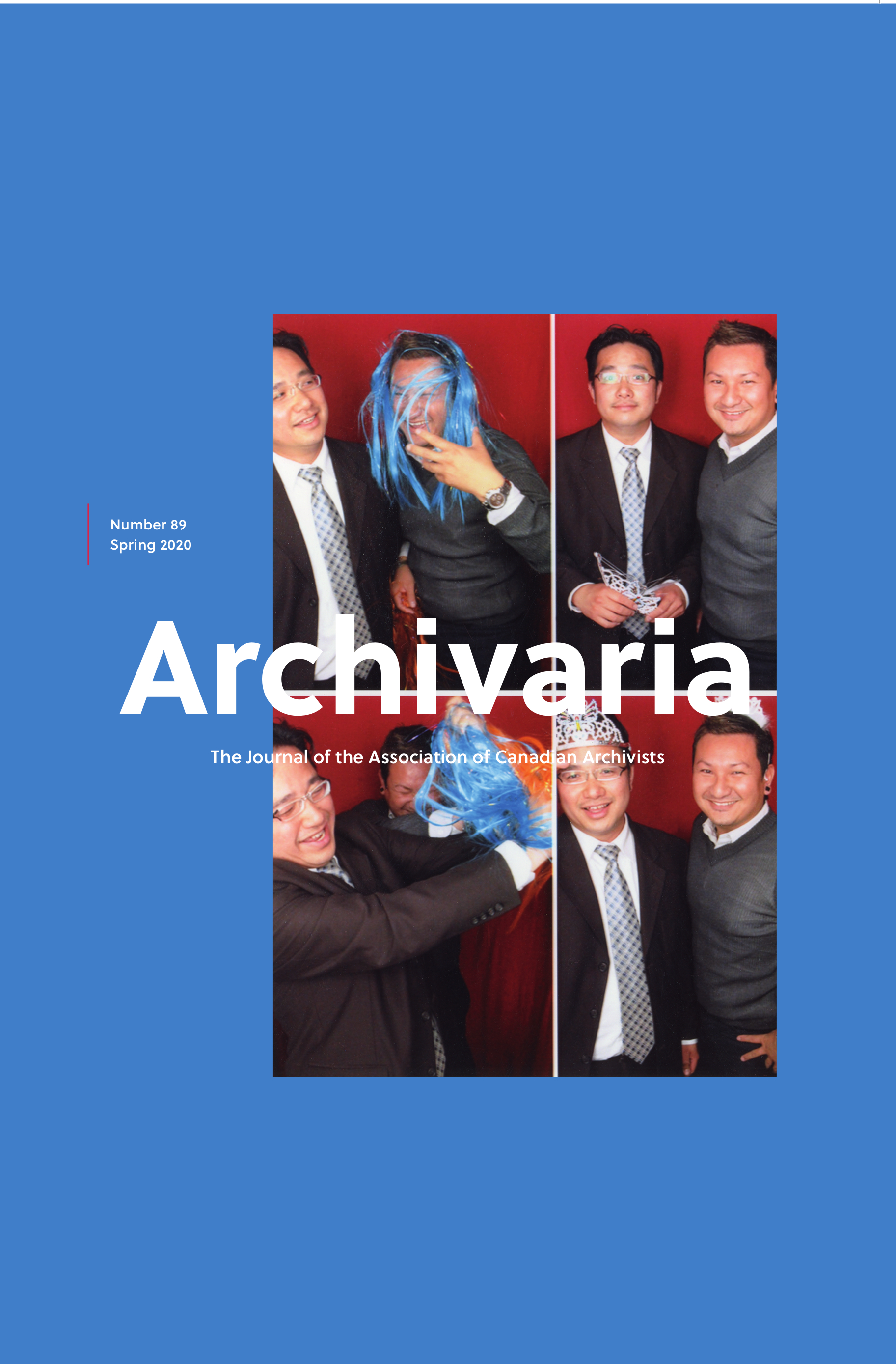 Archivaria 89 cover: image of Hon Lu with his cousin, Shanobi Lam