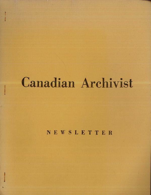 Canadian Archivist